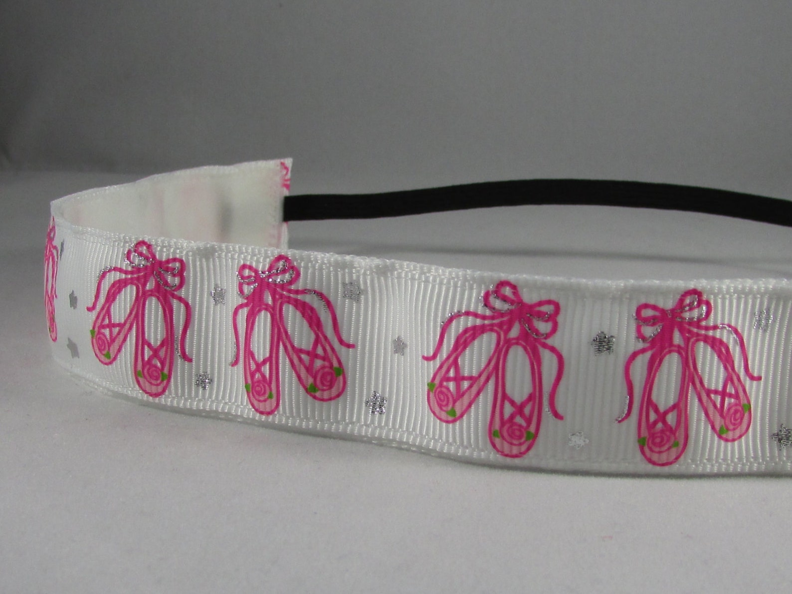 embands - non-slip white ballet shoes headband head band, pink ballet shoes, ballerina headband, ballet headband, girls headband