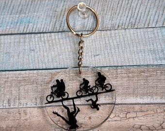 Stranger Things Handmade Fandom Round Plexi Keychain