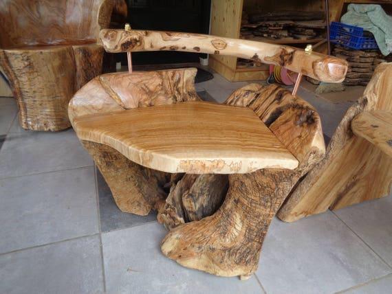 Rustikale Möbel Olive Holz Stuhl Logrootverkauftähnlich Etsy