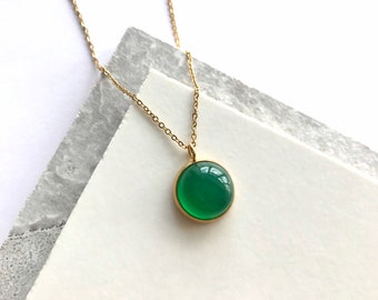 Dainty Necklace 925 Sterling Silver Necklace Green Onyx Silver Necklace Green Necklace Gift for her Boho Set Gorgeous Handmade Jewelry