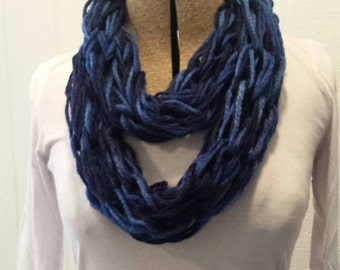 Handmade fun and fashionable double infinity scarf for any occasion.