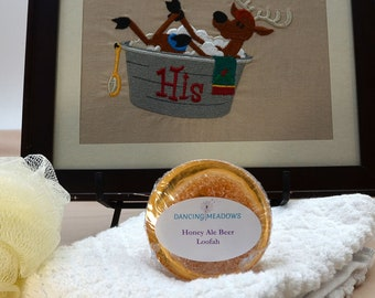 Honey Ale Beer Loofah Soap