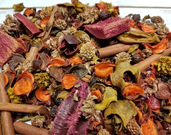 Pre-mixed Unscented Potpourri 1/2 pound. Bowl filler, decoration, gift giving, make your own, natural botanicals, add essential oils,