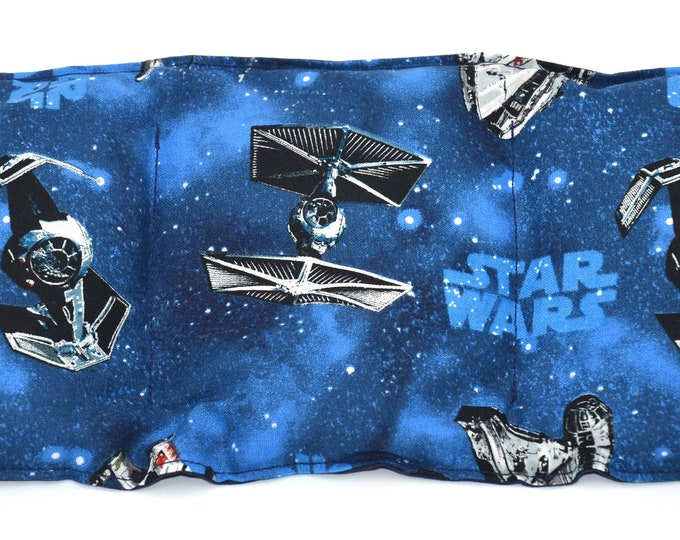 Star Wars Rice heating pad,  heat therapy for pain relief, muscle aches, menstrual cramps, inflammation, rice or flaxseed heat pad, lavender