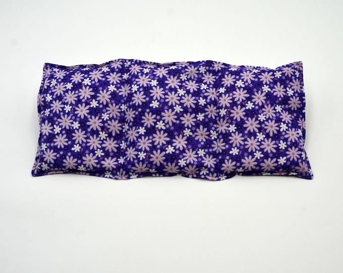 Rice heating pad,  heat therapy for pain relief, muscle aches, menstrual cramps, inflamation, rice or flaxseed heating pad, lavender or