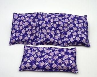Rice heating pad Gift Set, heat therapy for pain relief, muscle aches, menstrual cramps, inflammation, rice or flax seed heating pad