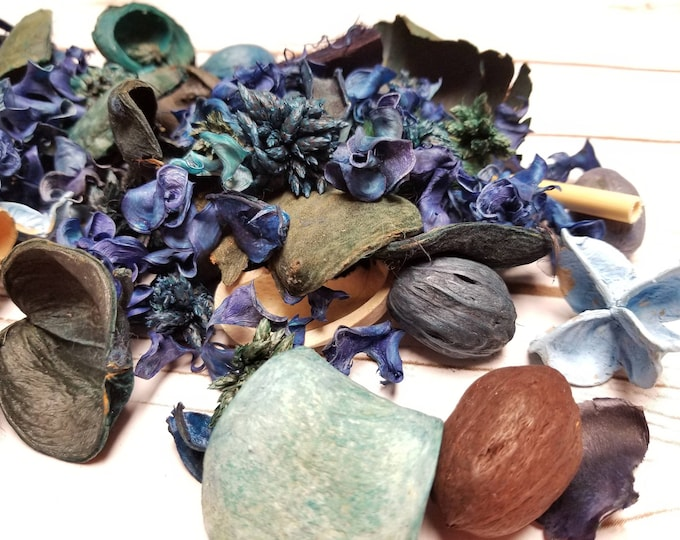 Pre-mixed Unscented Potpourri 1 pound. Bowl filler, decoration, gift giving, make your own, natural botanicals, add essential oils,