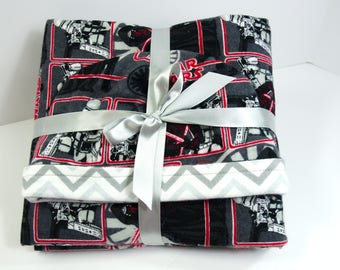 Baby Gift Set Blanket and Matching Reversible Hat with Star Wars Characters