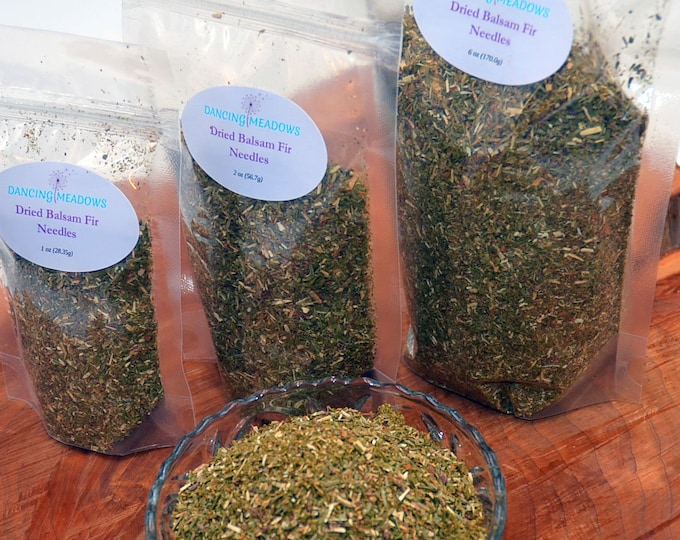 8 oz Dried Balsam Fir Ground Needles, available in any size, great balsam scent, for crafts, sachets, Christmas ornaments, potpourri