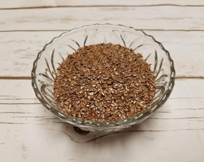 4 oz Whole Brown Flax Seed bulk
