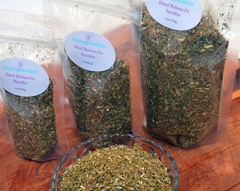 1oz Dried Balsam Fir Ground Needles, available in any size, great balsam scent, for crafts, sachets, Christmas ornaments, potpourri