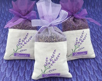 French Lavender Sachet, great for wedding toss, wedding favors, baby showers, gift giving, drawers, closets, bug repellent