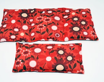 Rice heating pad Gift Set, heat therapy for pain relief, muscle aches, menstrual cramps, inflamation, rice or flaxseed heating pad