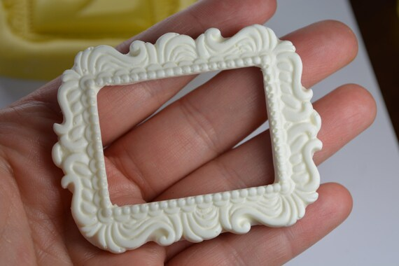 Frame Silicone Chocolate Mold Cake Baking Tools Fondant Decorating Resin Clay