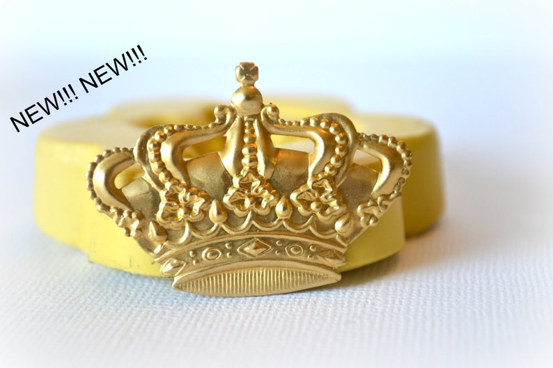 0546 Royal Crown Mold Silicone Rubber Mold Easter Crown Mold image 0