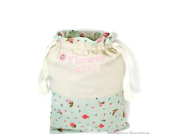 Flower girl bag - Flower girl basket - Flower girl purse - Personalized flower girl bag - Flower girl gift - Wedding party gift