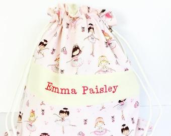 Personalized ballet bag - Ballerina bag - Girls dance bag - Personalized bags for girls - Ballet bag - Dance bag - Ballet Shoe Bag