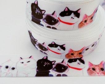 1'' -  25 mm Cat Grosgrain Ribbon