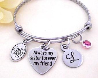 Sister Bracelet, Gift for Sister, Always My Sister Forever My Friend, Sisters Gift, Sister Gift, Sisters Jewelry, Sister Birthday