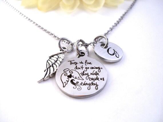 Sister Memorial Cousin Son Memorial Grandson Loss Granddaughter Daughter Memorial Personalized Angel Necklace Dad Niece
