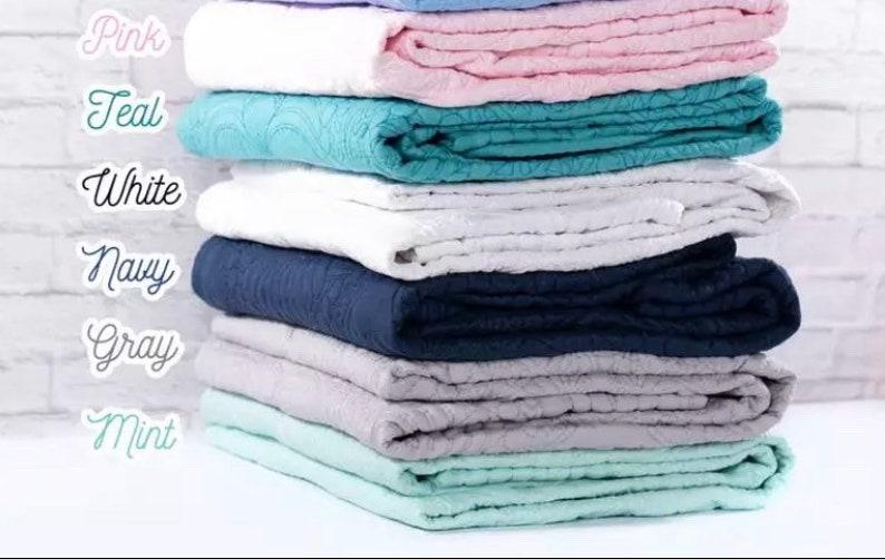 Quilted Blanket-Baby Blanket-Baby Shower Gift-Monogram image 1