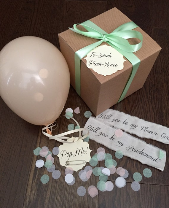Blush Will You Be My Bridesmaid Pop The Balloon To Reveal Etsy