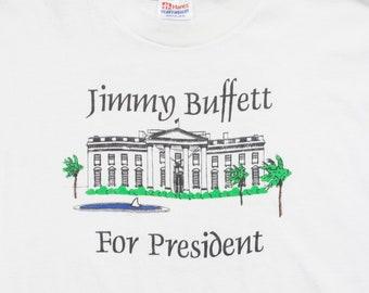 vintage jimmy buffet for president shirt - 90s - bill clinton - xl 867fb2917