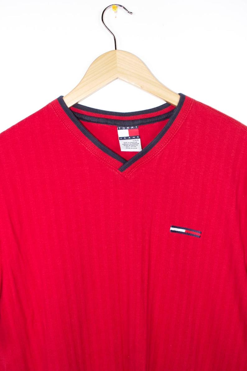 308b13b6c 90s TOMMY HILFIGER shirt vintage embroidered flag logo | Etsy