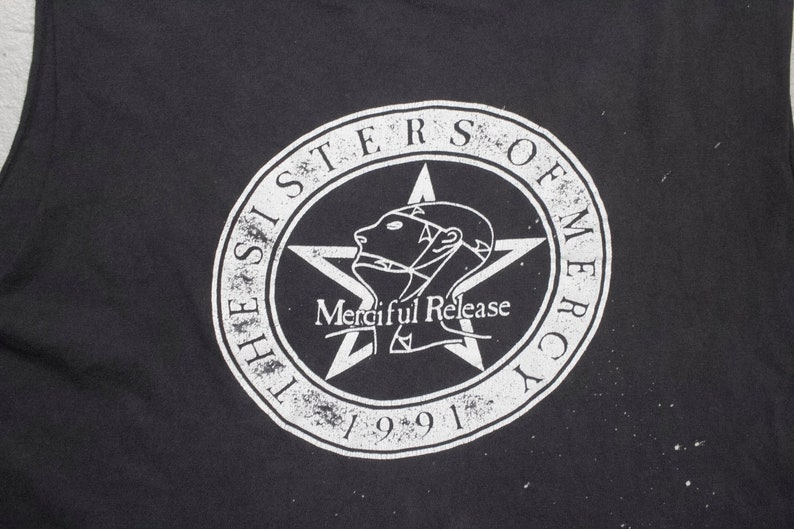 71def531 Vintage SISTERS OF MERCY merciful release shirt north   Etsy