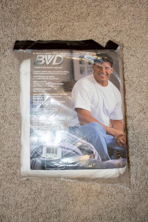deadstock vintage blank white BVD t-shirt - 1996 … - image 3