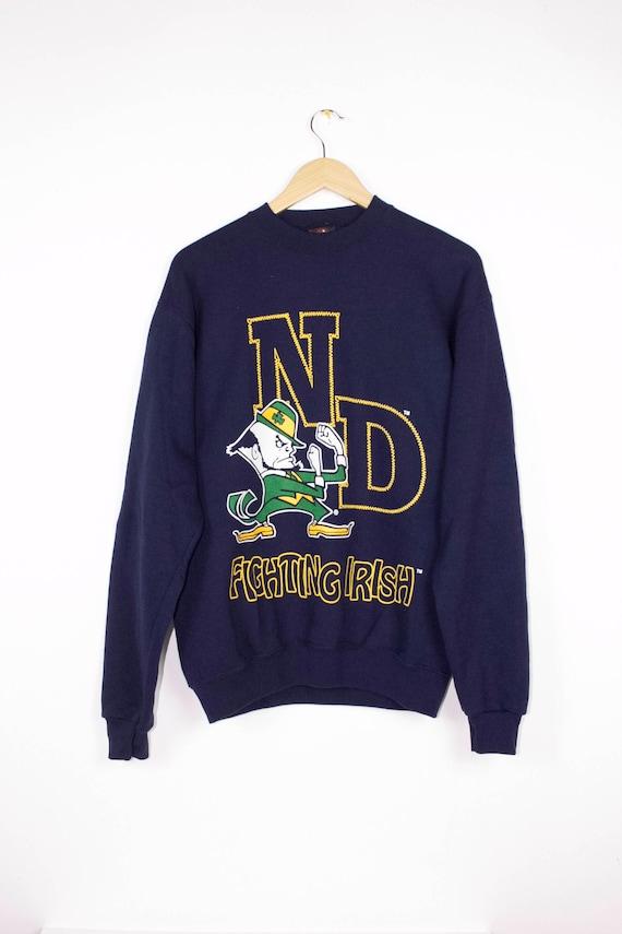 Notre Dame Fighting Moyen Irlandais Sweatshirt Vintage Des Etsy