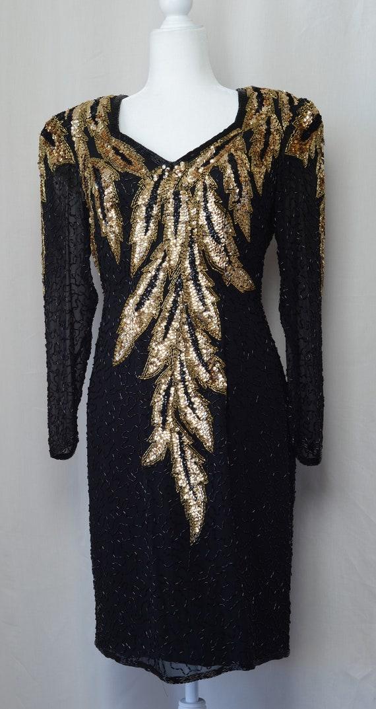 1980's Lillie Rubin Full Sequin Party Dress