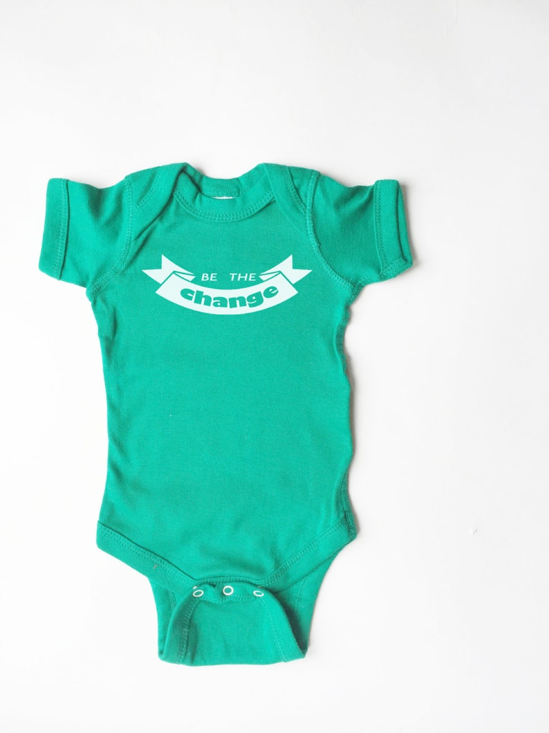Be the Change coming home outfit baby shower gift baby announcement