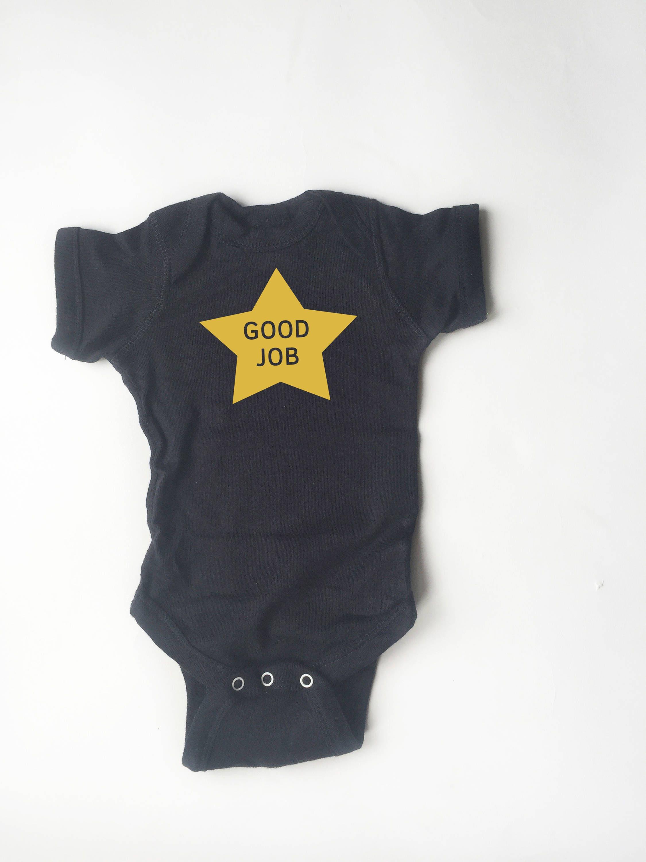 Gold Star gute Arbeit Body. Lustige Kinder Kleidung. | Etsy