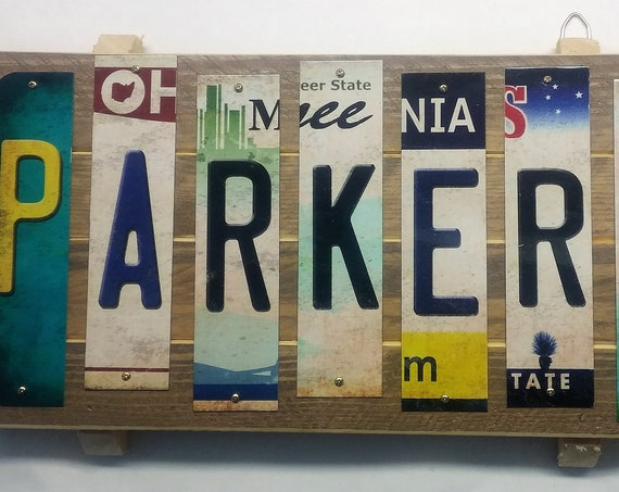 Personalized Cut License Plate Strip  Sign
