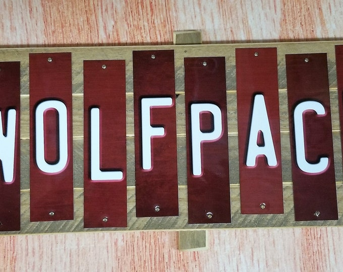 NC STATE WOLPACK  Cut Strip Sign Plaque