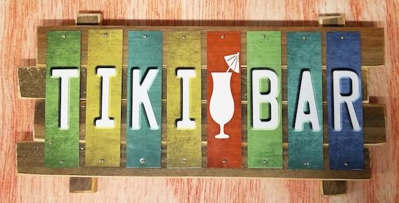 Tiki Bar Fun Strip Sign