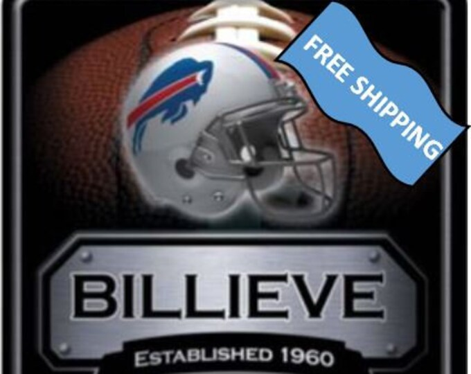 Buffalo Bills Large Metal Sign