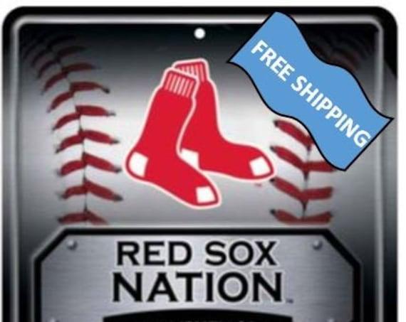 Boston Red Sox Large Metal Sign