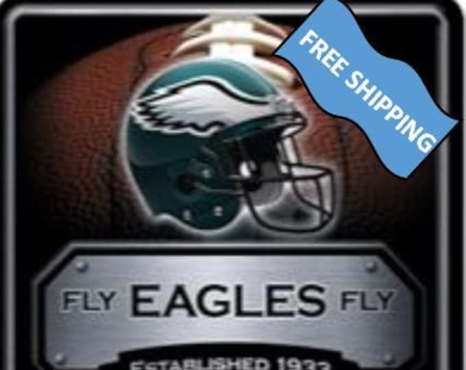 Philadelphia Eagles Large Metal Sign