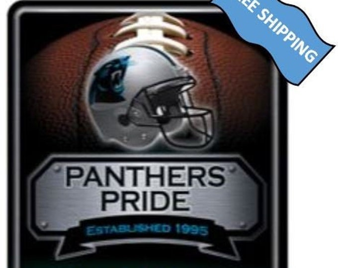 Carolina Panthers  Large Metal Sign