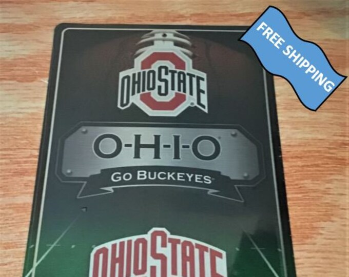 Ohio State Large Metal Sign