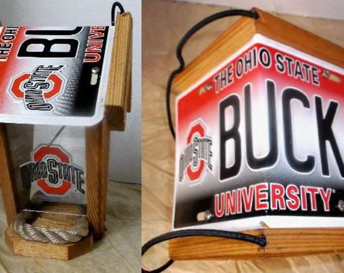 Ohio State Two-Sided Cedar Bird Feeder