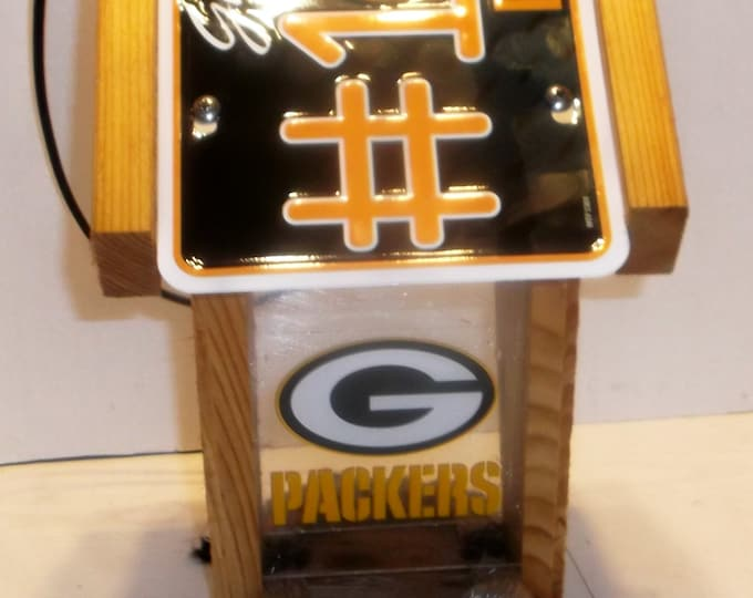 Green Bay Packers #1 Fan Two-Sided Cedar Bird Feeder