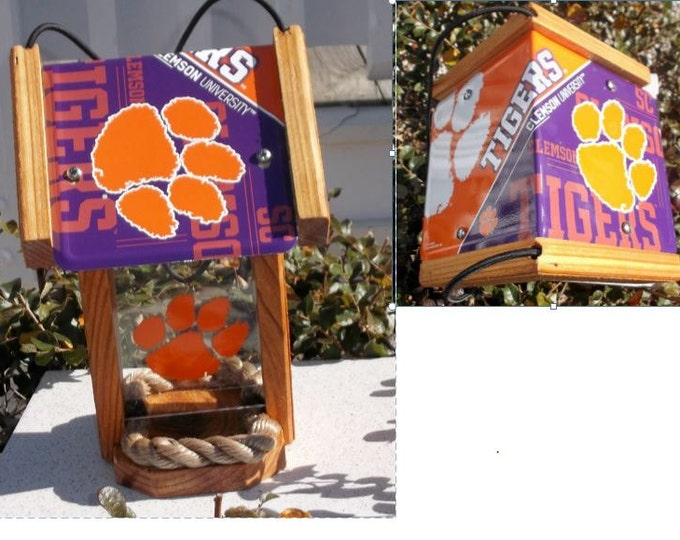 Clemson Tigers Two-Sided Cedar Bird Feeder (SI Series)