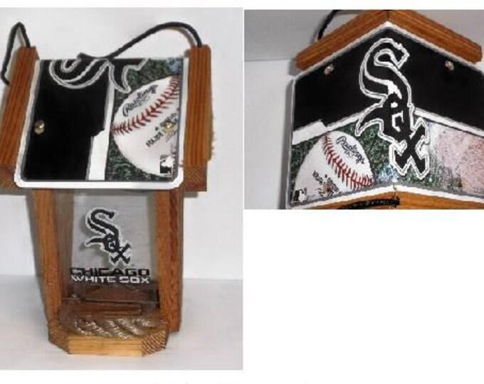 Chicago White Sox Two-Sided Cedar Bird Feeder