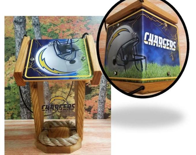 LA Chargers Two-Sided Cedar Bird Feeder