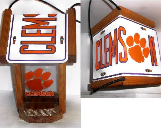 Clemson Tigers Two-Sided Cedar Bird Feeder #2