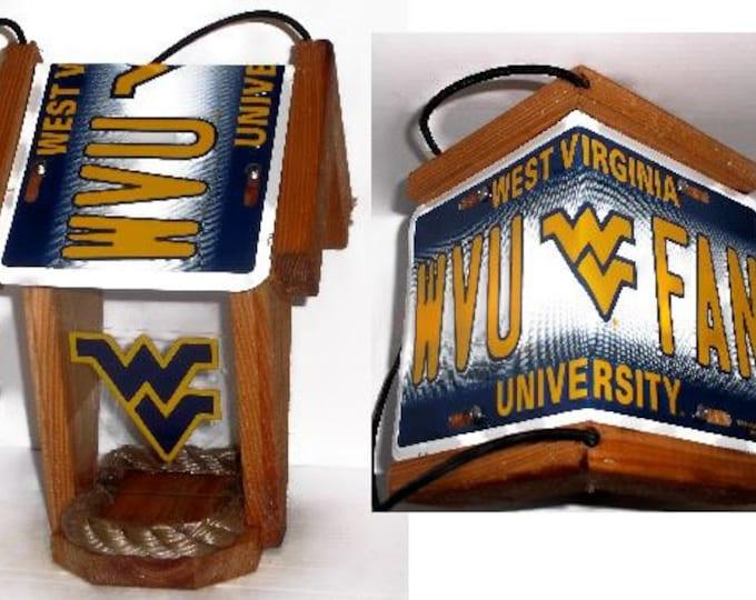 West Virginia University Mountaineers Two-Sided Cedar Bird Feeder