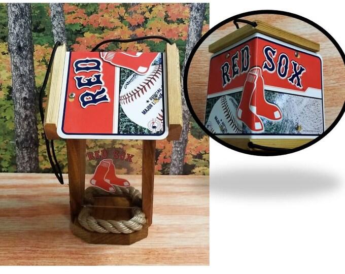 Boston Red Sox Two-Sided Cedar Bird Feeder
